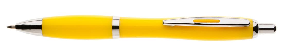 Plastikowy długopis reklamowy AP1001b-08 - żółty