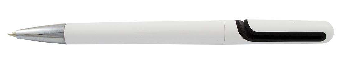Plastikowy długopis reklamowy AP4515w-03 - biało-czarny