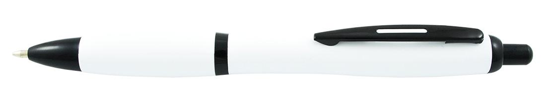 Plastikowy długopis reklamowy AP1001k-03 - biało-czarny