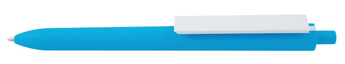Plastikowy długopis reklamowy El Primero Solid Color-12 - błękitno-biały