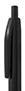 Czarny, plastikowy długopis reklamowy AP2050-03