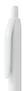 Biały, plastikowy długopis reklamowy AP2050-06
